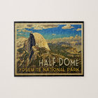 Vintage Yosemite Half Dome Jigsaw Puzzle