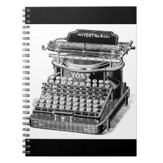Vintage Yost No. 4 Typewriter Note Book