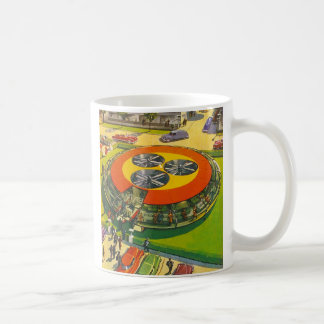 """Vintage 'Your Own UFO"""" Spaceship Flying Saucer Coffee Mugs"""