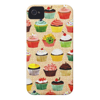 Vintage Yummy Cupcakes iPhone 4 Case-Mate Case