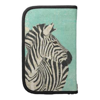 Vintage Zebra Blue Planner