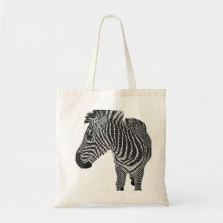 Vintage Zebra Budget Tote Bag