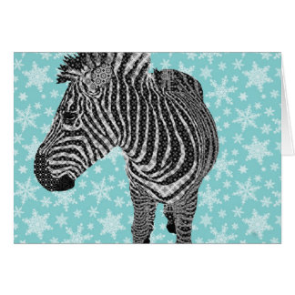 Vintage Zebra Greeting Greeting Card