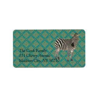 Vintage Zebra II Label