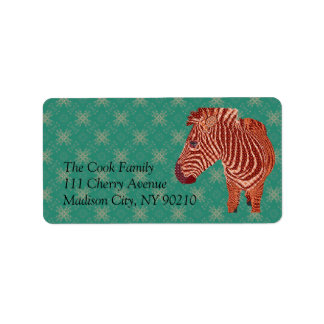 Vintage Zebra Label