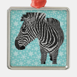 Vintage Zebra Metal Ornament