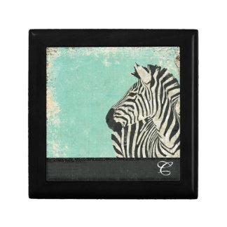 Vintage Zebra Monogram Gift Box