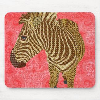 Vintage Zebra Red Mousepad