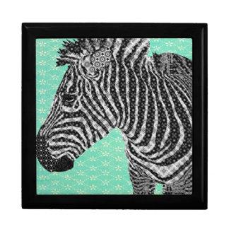 Vintage Zebra Turqoise Gift  Box Gift Box