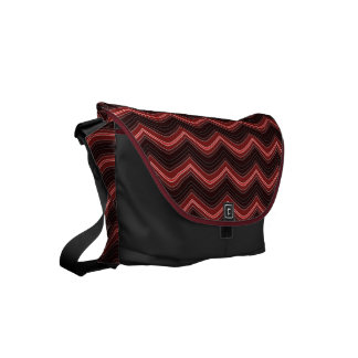 Vintage ZigZag Courier Bag