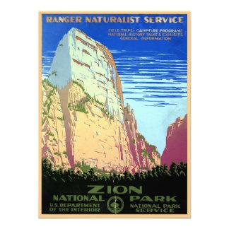 Vintage Zion National Park Travel Photo Print
