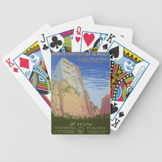 Vintage Zion Park Bicycle Playing Cards