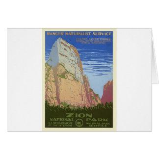 Vintage Zion Park Card