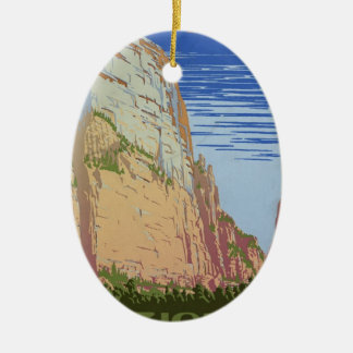 Vintage Zion Park Ceramic Ornament