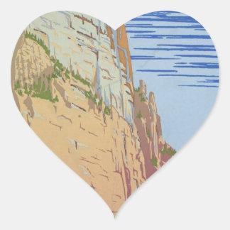 Vintage Zion Park Heart Sticker