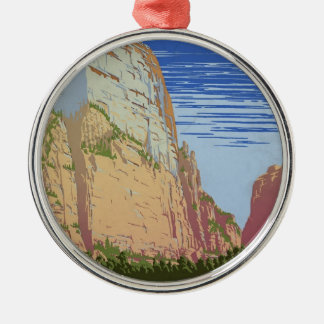 Vintage Zion Park Metal Ornament