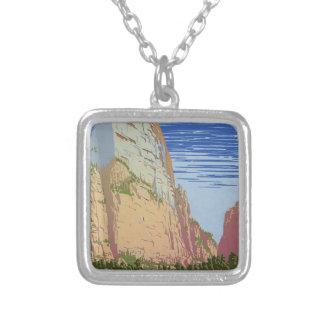 Vintage Zion Park Silver Plated Necklace