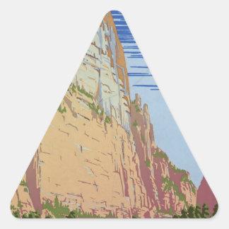 Vintage Zion Park Triangle Sticker