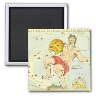 Vintage Zodiac, Astrology Aquarius Constellation Magnet