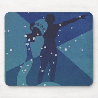 Vintage Zodiac Astrology, Aquarius Constellation Mouse Pad
