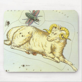 Vintage Zodiac, Astrology Aries Ram Constellation Mouse Pad