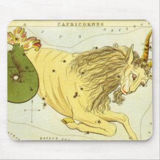 Vintage Zodiac, Astrology Capricorn Constellation Mouse Pad