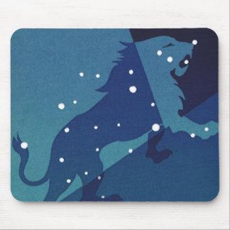 Vintage Zodiac Astrology Leo Lion Constellation Mouse Pad