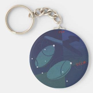 Vintage Zodiac Astrology Libra Scale Constellation Basic Round Button Keychain