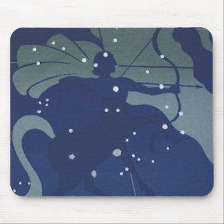 Vintage Zodiac Astrology Sagittarius Constellation Mouse Pad
