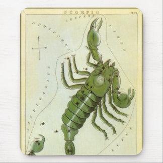 Vintage Zodiac, Astrology Scorpio Constellation Mouse Pad