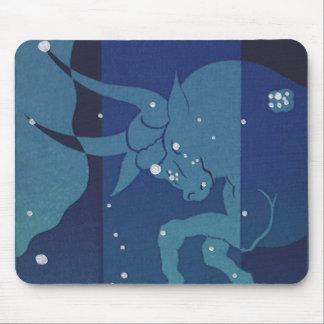 Vintage Zodiac Astrology, Taurus Constellation Mouse Pad