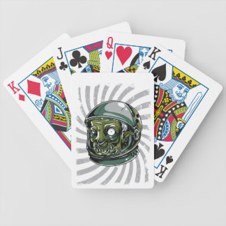 vintage zombie scary face bicycle playing cards