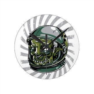 vintage zombie scary face clocks