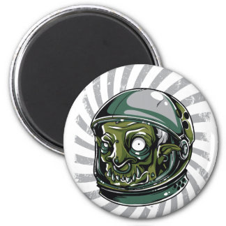 vintage zombie scary face magnet