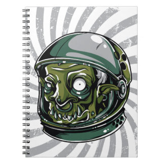vintage zombie scary face notebook