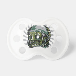 vintage zombie scary face pacifier