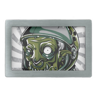 vintage zombie scary face rectangular belt buckles