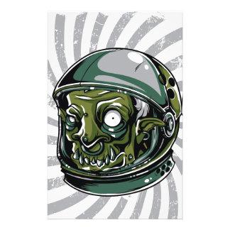 vintage zombie scary face stationery