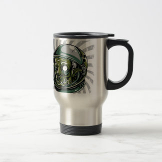 vintage zombie scary face travel mug