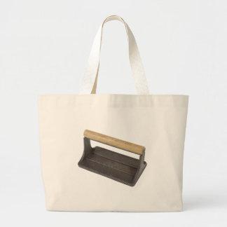 VintageBaconPress032112.png Large Tote Bag