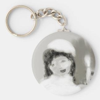 vintagebrideplatinum basic round button keychain