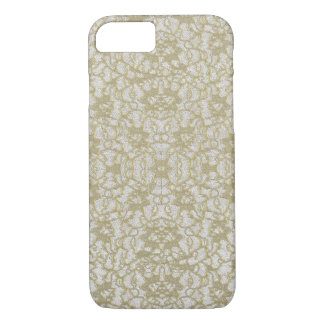 Vintaged Distressed Gold Lace iPhone 7 Case