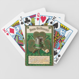VintageSaint Patrick's day shamrock erin go bragh Bicycle Playing Cards