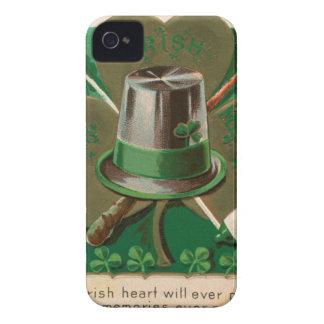 VintageSaint Patrick's day shamrock erin go bragh Case-Mate iPhone 4 Cases