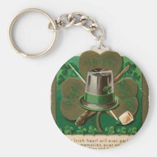 VintageSaint Patrick's day shamrock erin go bragh Keychain