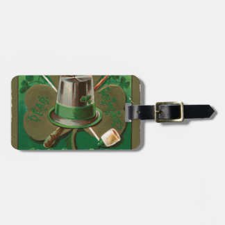 VintageSaint Patrick's day shamrock erin go bragh Luggage Tag