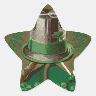 VintageSaint Patrick's day shamrock erin go bragh Star Sticker