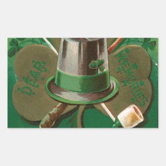 VintageSaint Patrick's day shamrock erin go bragh Sticker