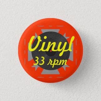 Vinyl 33 rpm 1 inch round button