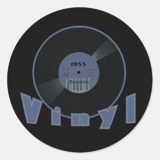 VINYL 33 RPM Record 1955 Label Round Sticker